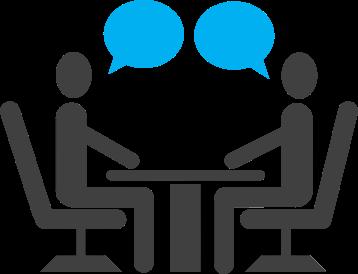 Sich zusammensetzen und miteinander reden